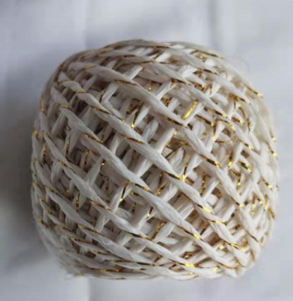 PAPER ROPE WITH GOLD WIRE